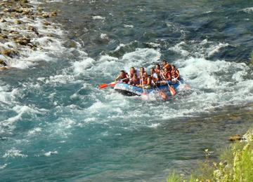Antalya Köprüçay'da Rafting Heyecanı