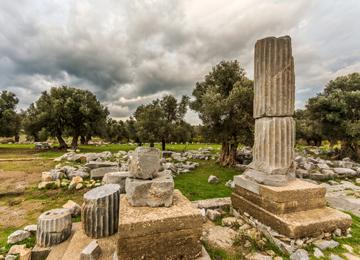 İyon uygarlığına başkentlik yapan antik kent Sığacık